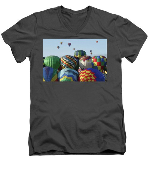 Balloon Traffic Jam Men's V-Neck T-Shirt