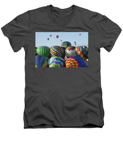 Balloon Traffic Jam Men's V-Neck T-Shirt