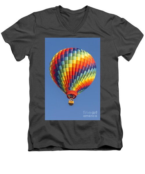 Ballooning In Color Men's V-Neck T-Shirt by Anthony Sacco