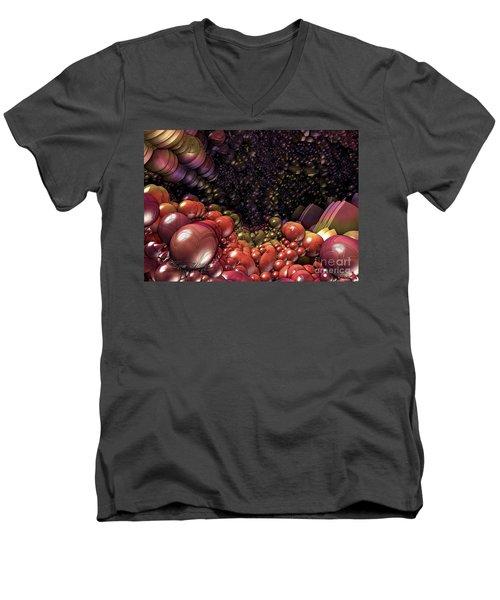 Ballsville Men's V-Neck T-Shirt by Melissa Messick