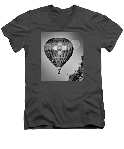 Men's V-Neck T-Shirt featuring the photograph Ballunar Eclipse by Kevin Munro