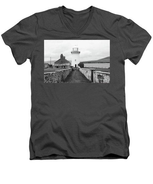 Ballyglass Lighthouse Mono Men's V-Neck T-Shirt