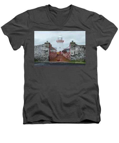 Ballyglass Lighthouse Men's V-Neck T-Shirt