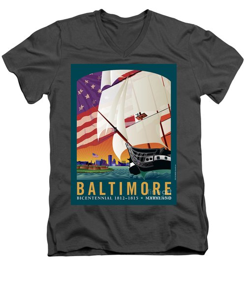 Baltimore - By The Dawns Early Light Men's V-Neck T-Shirt