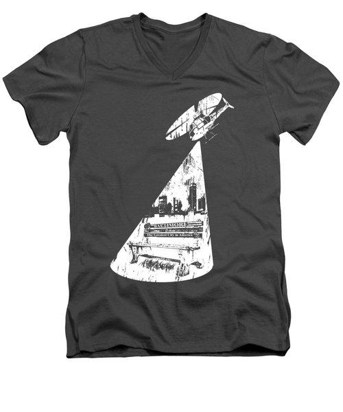 Baltimore Helicopter Men's V-Neck T-Shirt by Brendan Gilligan