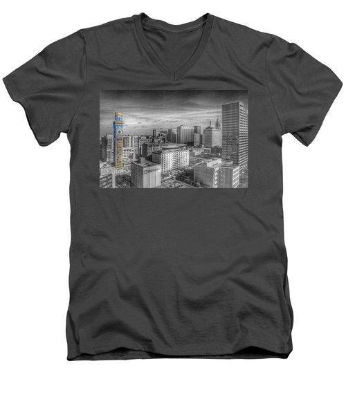 Baltimore Landscape - Bromo Seltzer Arts Tower Men's V-Neck T-Shirt