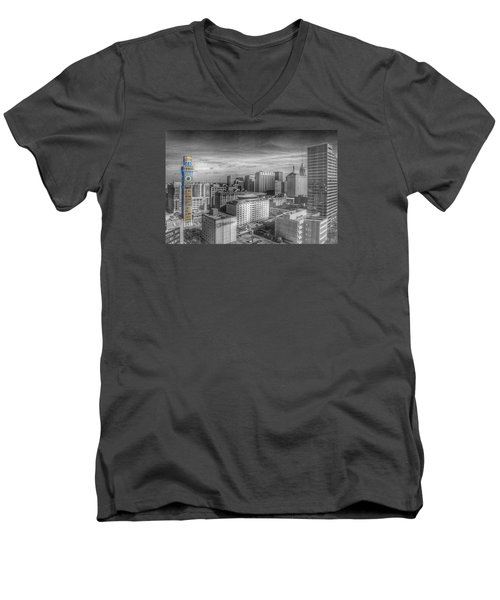 Baltimore Landscape - Bromo Seltzer Arts Tower Men's V-Neck T-Shirt