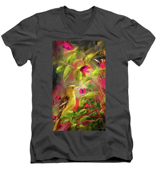 Baltimore Oriole Art- Baltimore Female Oriole Art Men's V-Neck T-Shirt