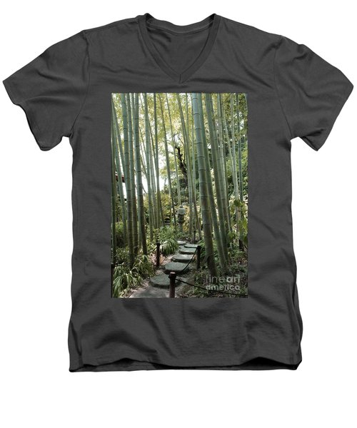 Bamboo Forest Men's V-Neck T-Shirt