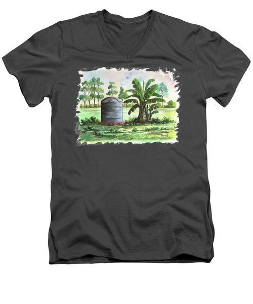 Banana And Tank Men's V-Neck T-Shirt by Anthony Mwangi