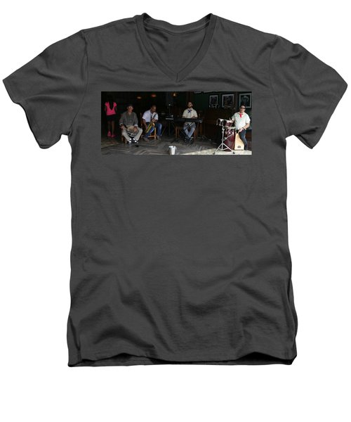 Band With Pink Girl Men's V-Neck T-Shirt