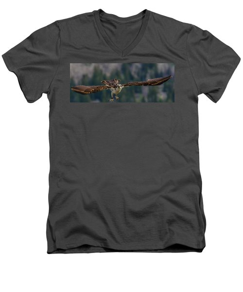 Banded But Bold Men's V-Neck T-Shirt by Yeates Photography