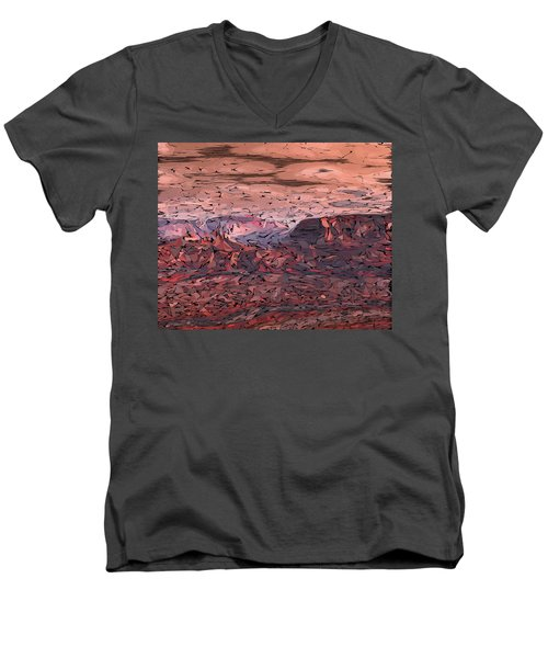 Banded Canyon Abstract Men's V-Neck T-Shirt