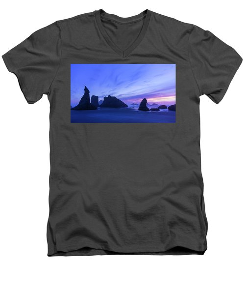 Bandon Blue Hour Men's V-Neck T-Shirt