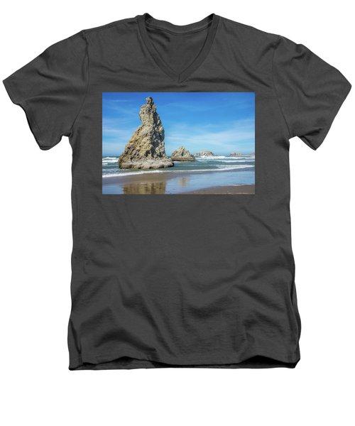 Bandon Rocks Men's V-Neck T-Shirt