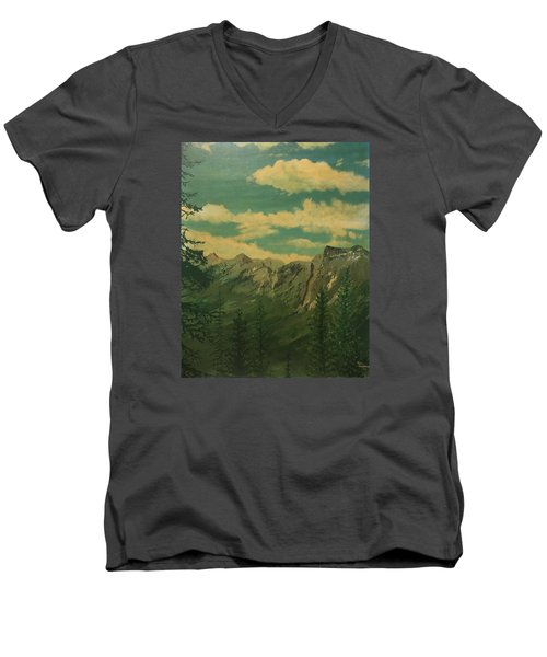 Banff Men's V-Neck T-Shirt by Terry Frederick