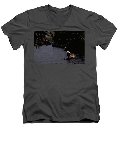 Bangkok Floating Market Men's V-Neck T-Shirt