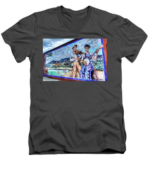 Banjo Mural Men's V-Neck T-Shirt