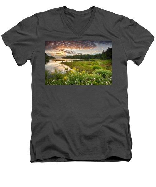 Bar Harbor Maine Sunset One Men's V-Neck T-Shirt