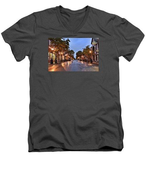 Bar Harbor - Maine Men's V-Neck T-Shirt by Brendan Reals
