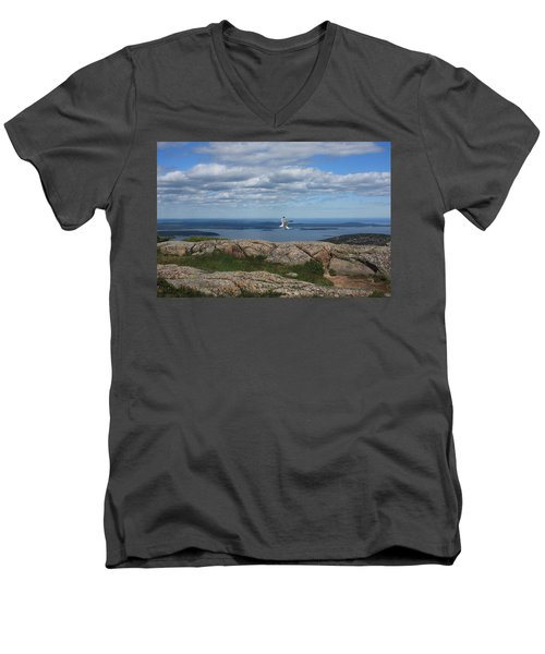 Bar Harbor View From Cadillac Men's V-Neck T-Shirt