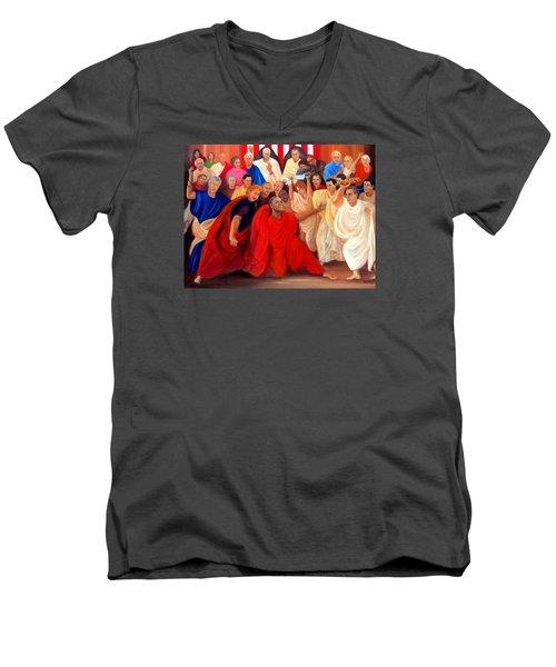 Barack Obama And Friends Men's V-Neck T-Shirt