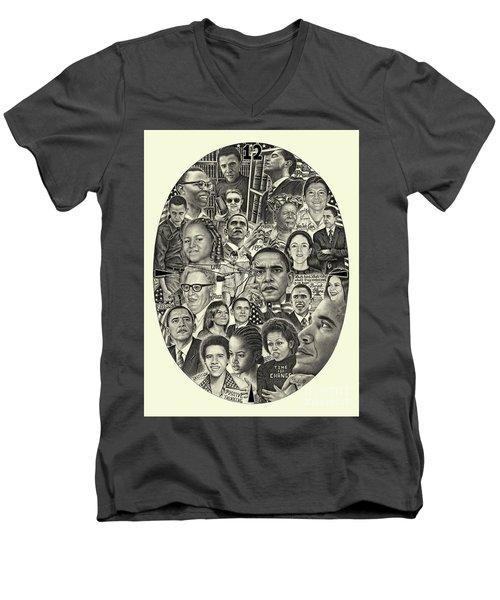 Barack Obama- Time For Change Men's V-Neck T-Shirt