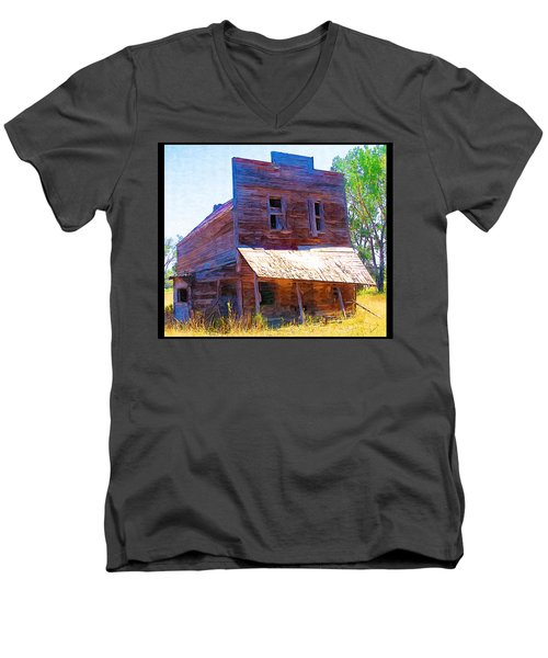 Men's V-Neck T-Shirt featuring the photograph Barber Store by Susan Kinney