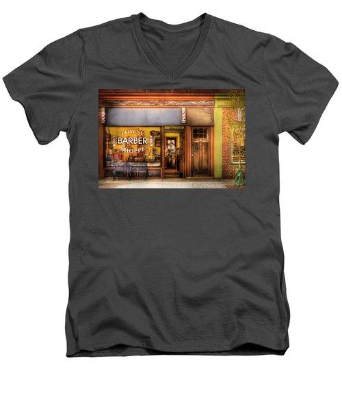 Barber - Towne Barber Shop Men's V-Neck T-Shirt