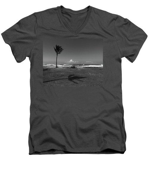 Barbers Pt., Oahu Men's V-Neck T-Shirt by Art Shimamura