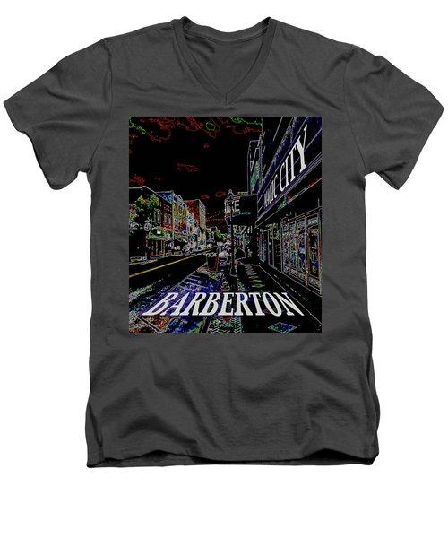 Barberton The Magic City Men's V-Neck T-Shirt