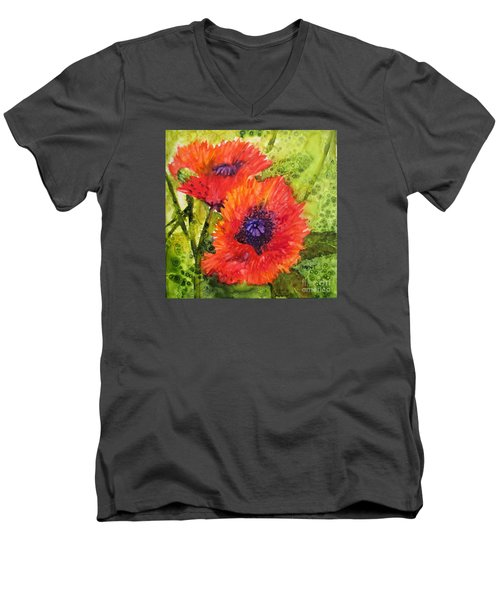 Barbs Poppies Men's V-Neck T-Shirt