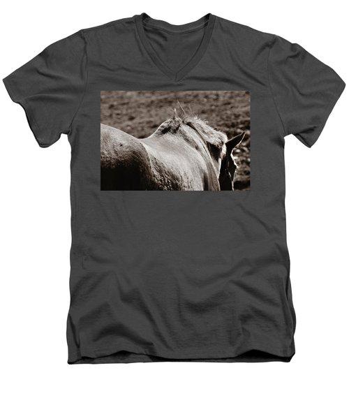 Bareback Men's V-Neck T-Shirt by Angela Rath