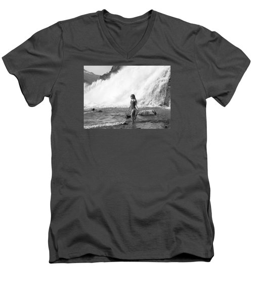 Barefoot In Wilderness Men's V-Neck T-Shirt