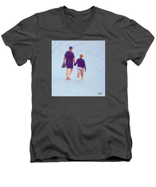 Barefoot On The Beach Men's V-Neck T-Shirt