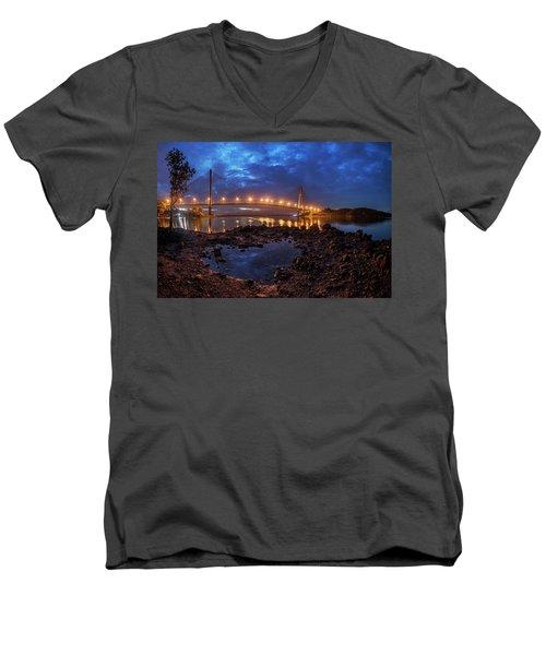 Barelang Bridge, Batam Men's V-Neck T-Shirt