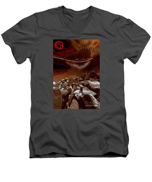 Bargain Bay 3 Series 2 Men's V-Neck T-Shirt by Elaine Hunter