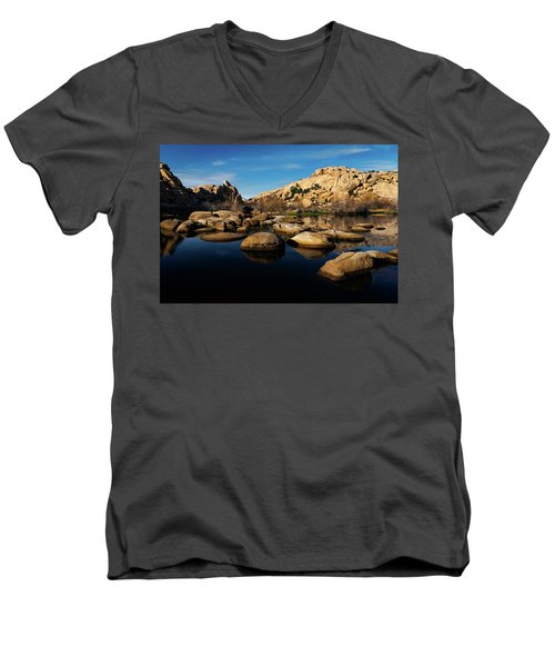 Barker Dam Lake Men's V-Neck T-Shirt