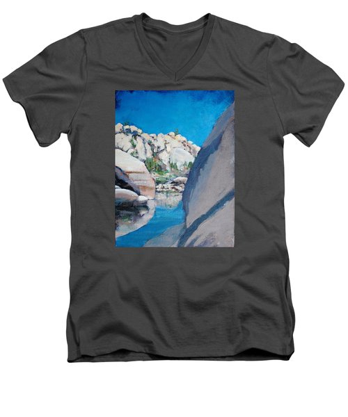 Barker Dam Men's V-Neck T-Shirt by Richard Willson