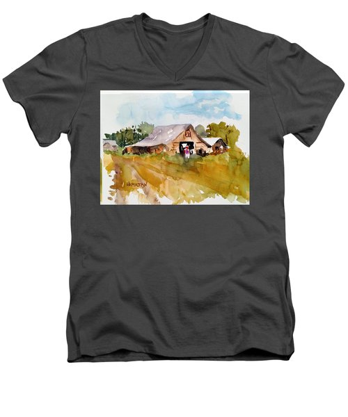 Barn # 2 Men's V-Neck T-Shirt