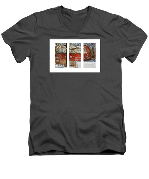 Barn Triptych Men's V-Neck T-Shirt