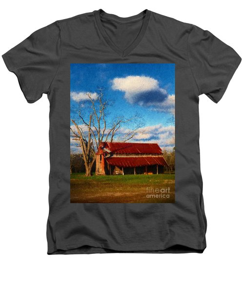 Red Roof Barn 2 Men's V-Neck T-Shirt