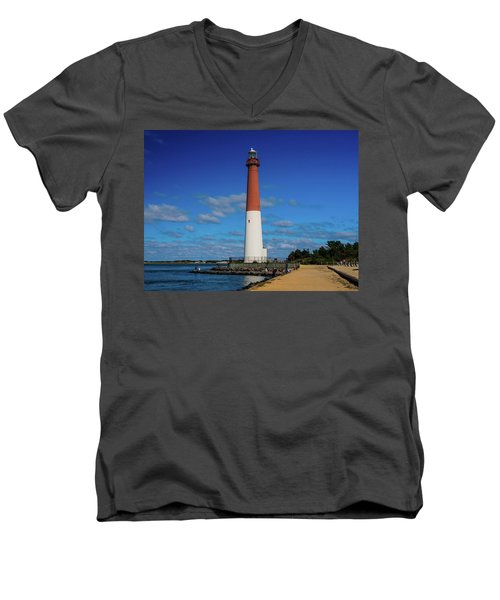 Barnegat Lighthouse Men's V-Neck T-Shirt