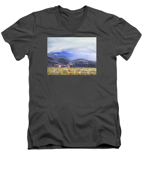 Barns In The Valley Men's V-Neck T-Shirt