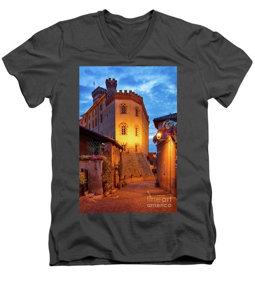 Men's V-Neck T-Shirt featuring the photograph Barolo Morning by Brian Jannsen