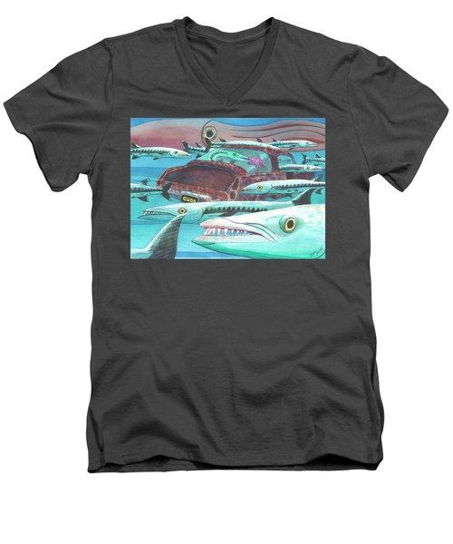 Barracuda Men's V-Neck T-Shirt