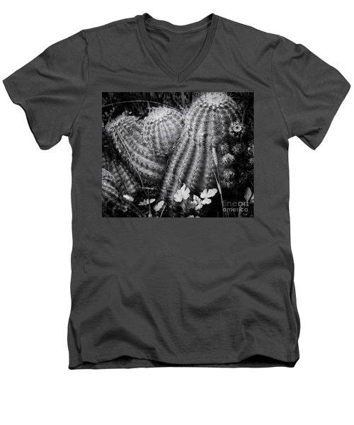 Barrel Cactus Men's V-Neck T-Shirt by Toma Caul