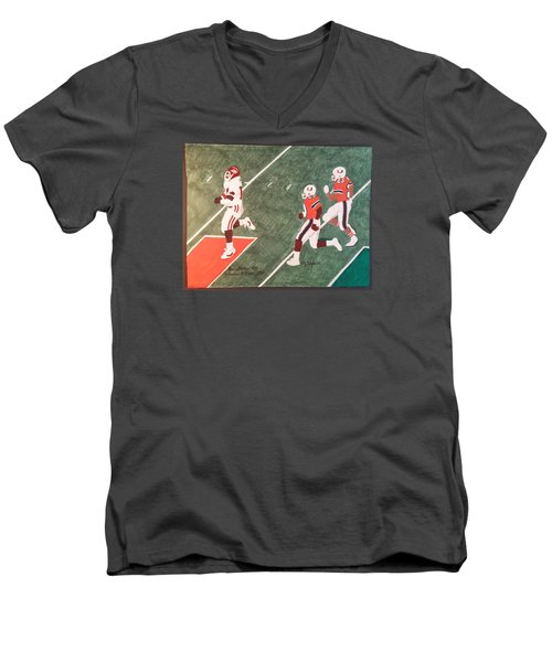 Arkansas V Miami, 1988 Men's V-Neck T-Shirt by TJ Doyle