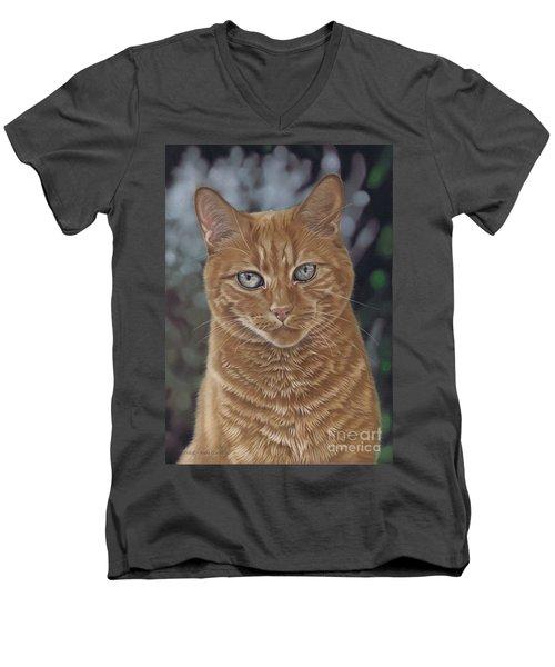 Barry The Cat Men's V-Neck T-Shirt