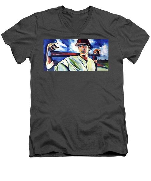 Baseball Crucifix Men's V-Neck T-Shirt
